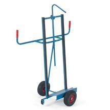 Platenwagen fetra®, capaciteit 400 kg, volrubber banden