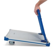 Platform trolley, aluminum, fully folding
