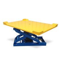 Platforma pro polohovače palet s nůžkami na stlačený vzduch