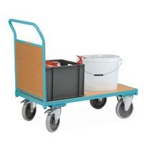 Platformwagen Ameise®, duwbeugel met houtwand