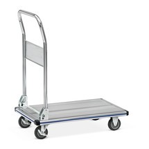 Platformwagen BASIC van aluminium. Oppervlakte 74x48 cm, capaciteit 150 kg