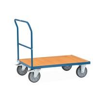 Platformwagen fetra® met houten laadvlak. Capaciteit tot 500 kg