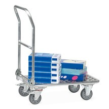 Platformwagen fetra® van aluminium. Capaciteit 150 kg