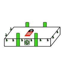 Plattenbag Transportsack, mit Hebeschlaufen