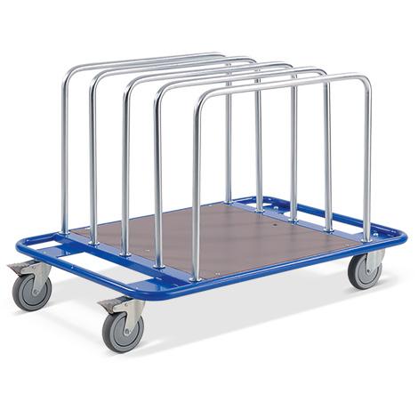 Plattenwagen BASIC mit 5 Einsteckbügeln. Tragkraft 150 kg