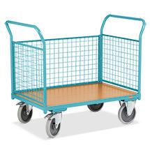 Plattformwagen Ameise®. 3-seitig mit Gitterwand