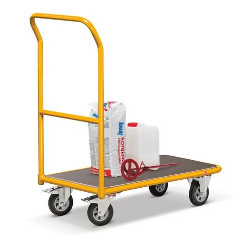 Plattformwagen Ameise®, melonengelb, Tragkraft 250 kg