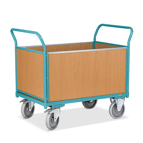 Plattformwagen Ameise®. Mit 4 Holzwänden