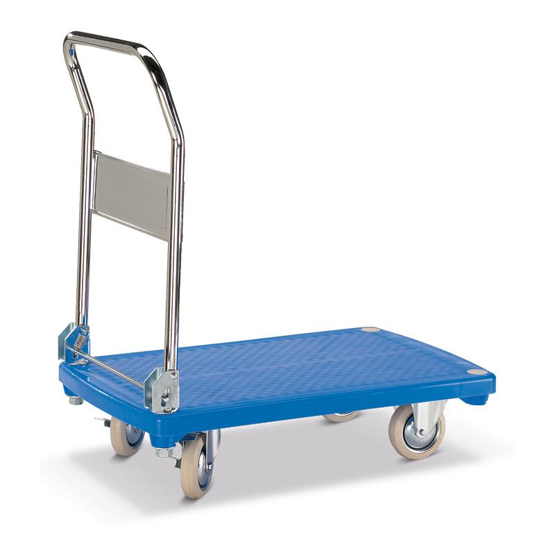 Plattformwagen BASIC mit Kunststofffläche á 81x50cm.Tragkraft 200kg