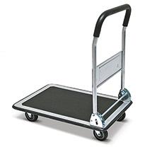 Plattformwagen BASIC mit Stahlblechfläche. Tragkraft 150/250kg, silber