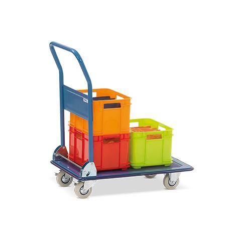 Plattformwagen fetra® aus Stahlblech. Tragkraft bis 250 kg