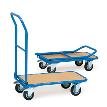Plattformwagen fetra® mit Holzfläche. Tragkraft 150 oder 250 kg