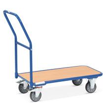 Plattformwagen fetra® mit Holzfläche. Tragkraft 200 kg