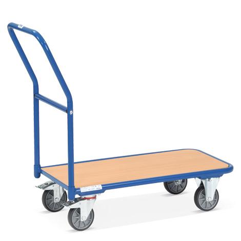 Plattformwagen fetra® mit Holzfläche. Tragkraft 400 kg