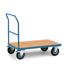Plattformwagen fetra® mit Holzfläche. Tragkraft bis 500 kg