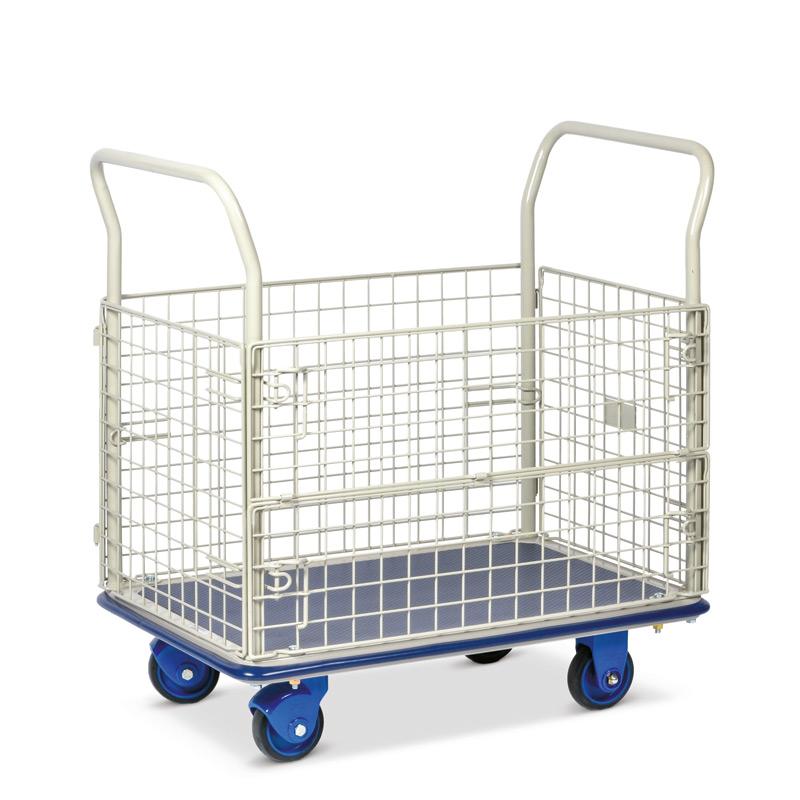 Plattformwagen PRESTAR ® mit 4 Gitterwänden