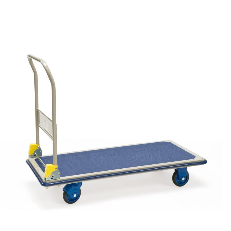 Plattformwagen PRESTAR® Premium aus Stahl. Fläche 121x61cm, Tragkraft 300kg
