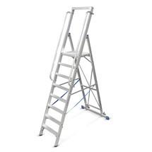 Plošinový žebřík KRAUSE® z hliníku s velkou plošinou