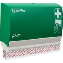 plum Pflasterspender QuickFix 4, inkl. 2 Nachfüllpacks mit 45 Stück Blood Stopper Pflastern