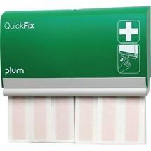 plum Pflasterspender QuickFix, inkl. 2 Nachfüllpacks mit 30 Stück elastischen, atmungsaktiven Fingerverbänden