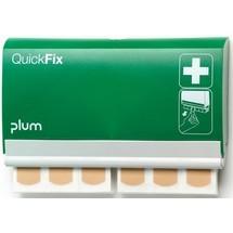 plum Pflasterspender QuickFix, inkl. je 1 Nachfüllpack mit 45 Stück Pflasterstrips elastisch und wasserfest