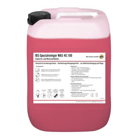 Płyn czyszczący do podłóg warsztatowych IBS WAS 40.100