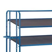 Płyta sitodrukowa z dodatkową półką do wózka piętrowego do pojemników Euro fetra®