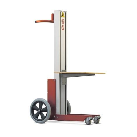 Podnośnik HOVMAND zplatformą drewnianą, udźwig 70 kg