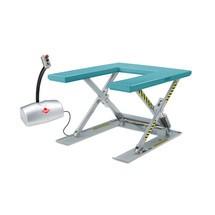 Podnoszony stół nożycowy Ameise z platformą w kształcie U. Wys. podn. 760 mm. Udźwig 1000 kg.