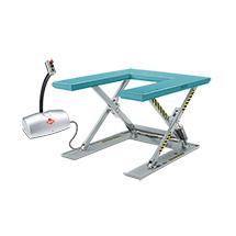 Podnoszony stół nożycowy Ameise® z platformą w kształcie U. Wys. podn. 760 mm. Udźwig 1000 kg.