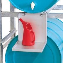 Podstawka na pojemniki do nalewania do regału montażowego asecos® na beczki