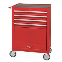 Pojazdný dielenský vozík Steinbock®, priehradka + 4 zásuvky