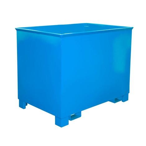 Pojemnik do składowania piętrowego do zestawów transportowych z ciągnikiem, lakierowany, pojemność 0,8m³
