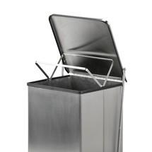 Pojemnik na odpadki otwierany pedałem, do zastosowania w przemyśle
