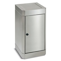Pojemnik na odpady stumpf® ze stali szlachetnej z odchylaną pokrywą