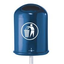 Pojemnik na odpady z blachy stalowej
