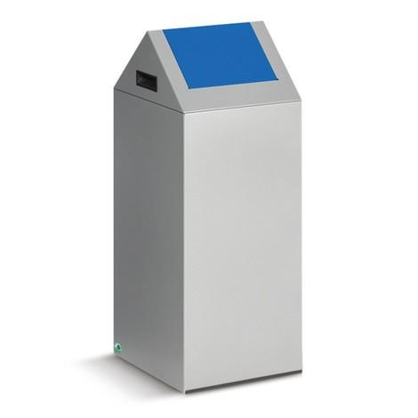 Pojemnik na surowce wtórne VAR®, 60 litrów, samogaszący, z ocynkowanej i powlekanej proszkowo stali, pokrywa kanciasta