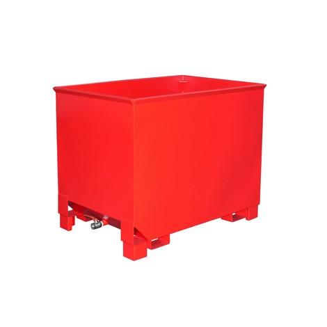 Pojemnik na wióry do składowania piętrowego do zestawów transportowych z ciągnikiem, lakierowany, pojemność 0,8m³