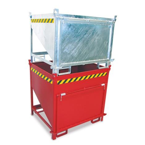 Pojemnik silosowy zklapą, lakierowany, pojemność 0,75 m³