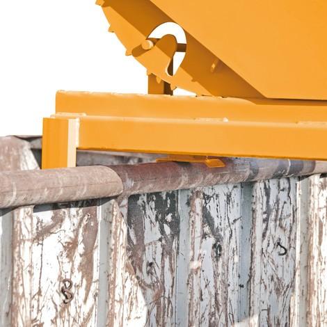 Pojemnik uchylny do dużych obciążeń, udźwig 4000kg, lakierowany, pojemność 0,3 m³