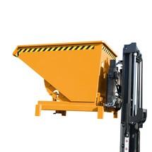 Pojemnik uchylny do dużych obciążeń, udźwig 4000kg, lakierowany, pojemność 0,6 m³