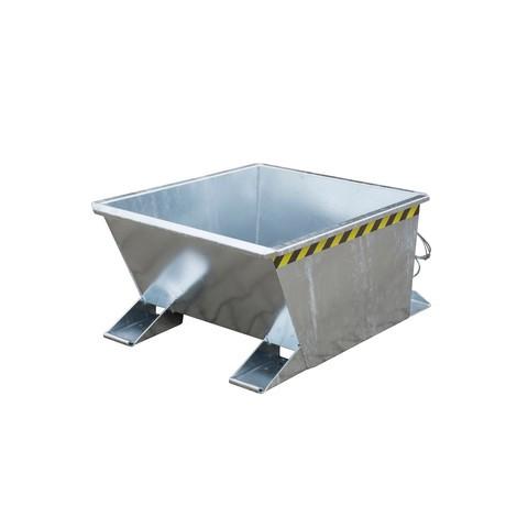 Pojemnik uchylny do zestawów transportowych z ciągnikiem, ocynkowany