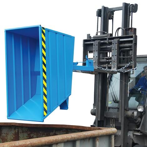 Pojemnik uchylny kompaktowy, lakierowany, pojemność 1 m²