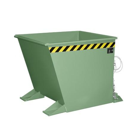 Pojemnik uchylny na wióry do zestawów transportowych z ciągnikiem, lakierowany, pojemność 0,55m³