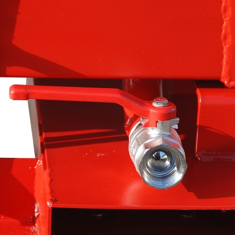 Pojemnik uchylny na wióry, niecka wkształcie skrzyni, lakierowany, pojemność 0,25 m³