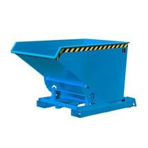 Pojemnik uchylny na wióry z automatycznym mechanizmem rolkowym, lakierowany, pojemność 1,2m³