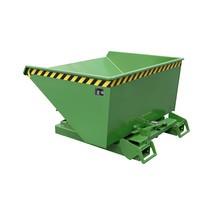 Pojemnik uchylny zautomatycznym mechanizmem rolkowym, udźwig 1000kg, lakierowany, pojemność 0,6m³