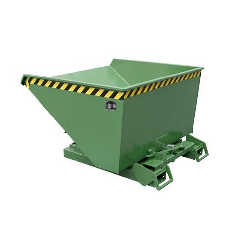 Pojemnik uchylny zautomatycznym mechanizmem rolkowym, udźwig 1500kg, lakierowany, pojemność 1,2m³