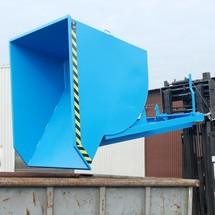 Pojemnik uchylny zmechanizmem rolkowym Premium, głęboka konstrukcja, lakierowany, bez pokrywy, pojemność 0,3 m³