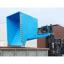 Pojemnik uchylny zmechanizmem rolkowym Premium, głęboka konstrukcja, lakierowany, bez pokrywy, pojemność 0,5 m³